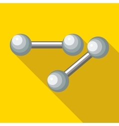 Dumbbells icon flat style vector image