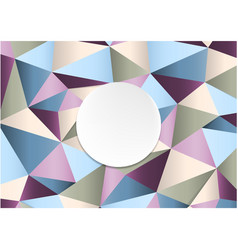 Geometric handcraft colorful paper template vector