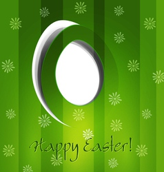 green background with Easter egg vector image vector image