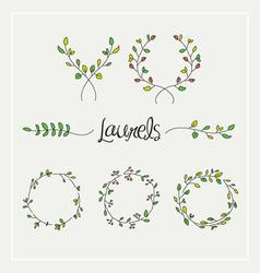 Laurels graphic set vector image vector image