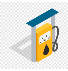 petrol gas station isometric icon vector image