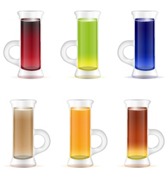 Set of colorful alcohol shots drink vector image vector image