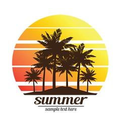summer vacation3 vector image vector image