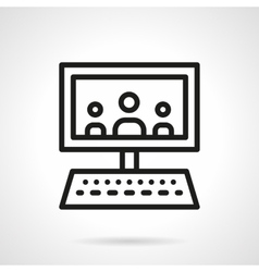 Webinar black line design icon vector image vector image