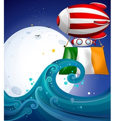 A floating balloon with the flag of ireland vector