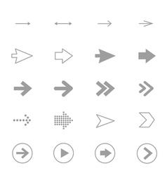 Arrow Icons Line Set Of Design copy vector image vector image