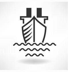 boat simple icon vector image