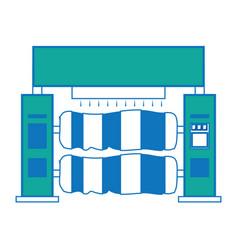 car wash machine icon vector image