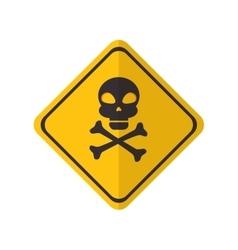 danger yellow sign vector image