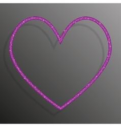 Frame Pink sequins Heart Glitter sparkle vector image