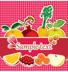 fruit drop vector image