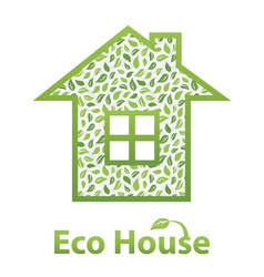 Green Eco House vector image