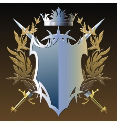 military emblem vector image vector image