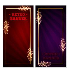 retro banner frame vector image vector image
