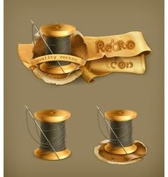 Spool of thread icon vector image vector image