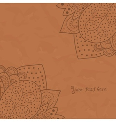 Vintage invitation corners on grunge background vector image vector image