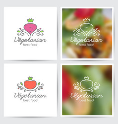 beet and tomato vector image vector image