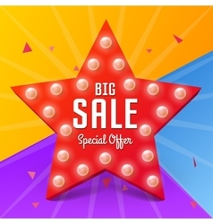 Big Sale banner on colorful background vector image