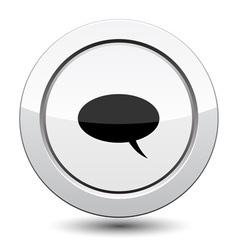 Button with Comment Icon vector image vector image