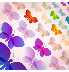 Colorful transparent butterflies summer pattern vector image vector image
