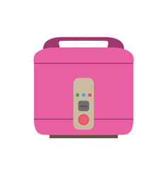 cooker rice icon pot electric kitchen vector image vector image