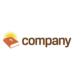holy book logo with cross vector image