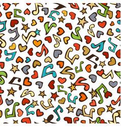 Seamless love music pattern vector