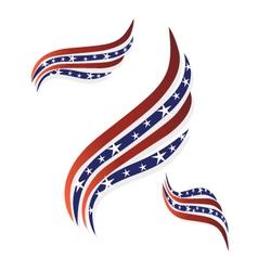 USA flags symbol logo vector image