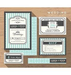 wedding card invitation set design Template vector image