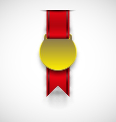 Badge with ribbon vector image vector image