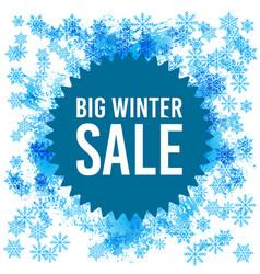 big winter sale poster vector image vector image