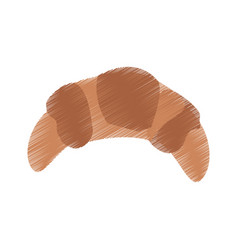 croissant pastry icon image vector image