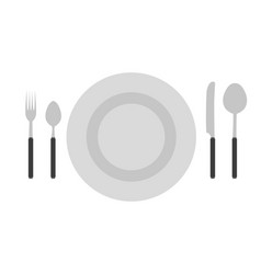 cutlery set fork spoon knife icon isolated vector image vector image