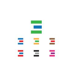 e letter logo vector image