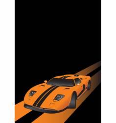 fantastic car on road vector image vector image