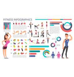 physical activity fitness and healthy lifestyle vector image