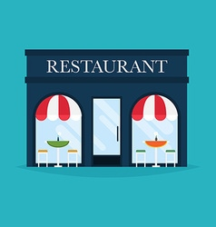 restaurant building Facade icons Ideal vector image