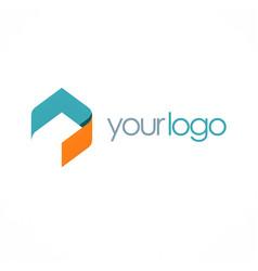 shape polygon business logo vector image