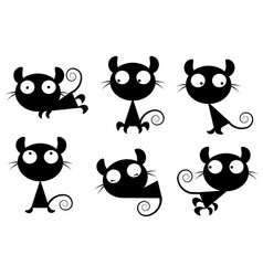 small images of cats vector image vector image