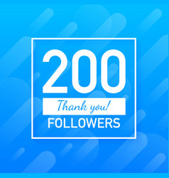 200 followers thank you social sites post thank vector image