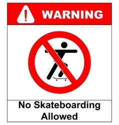 A no skateboarding allowed vector