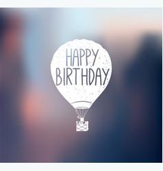 Aircraft logo happy birthday vector