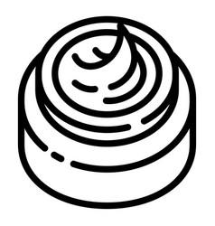 Aloe vera cream jar icon outline style vector