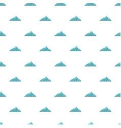 Alpine mountain pattern seamless vector
