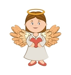 angel wing love heart icon vector image