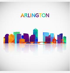 Arlington virginia skyline silhouette in colorful vector