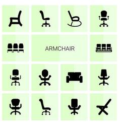 Armchair icons vector