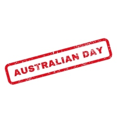 Australian Day Text Rubber Stamp vector