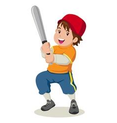 Baseball boy vector image