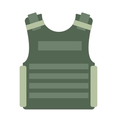 bulletprovest isolated vector image
